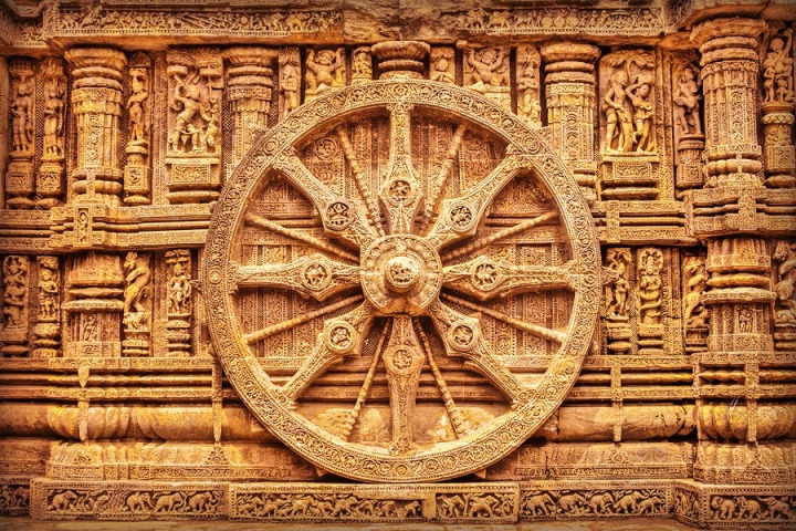 Sun Temples in India - Korark Sun chariot wheel