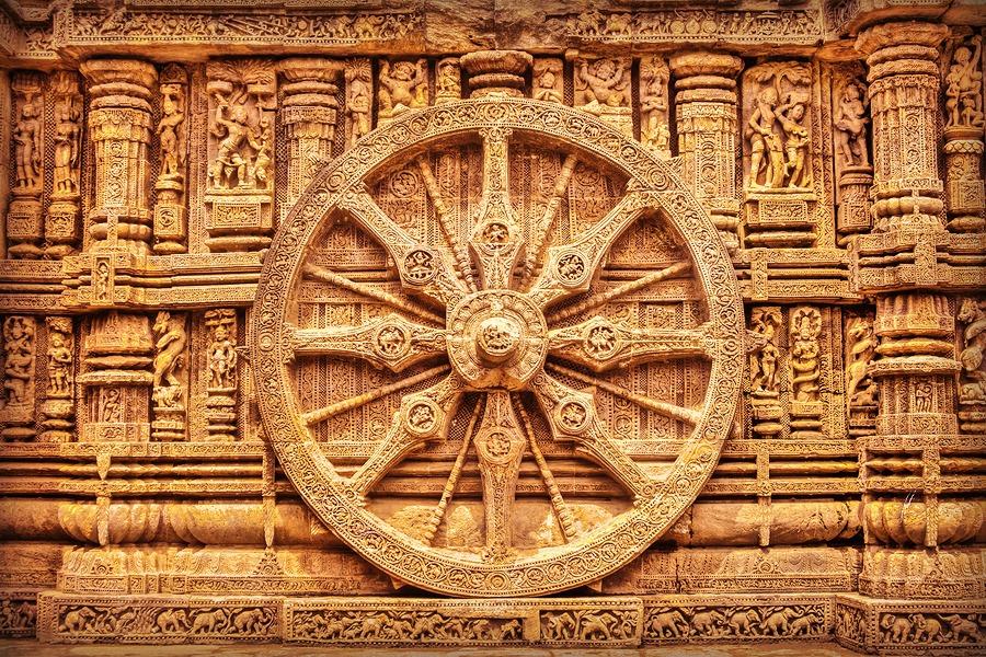 Sun Temples in India - Korark Sun chariot wheel